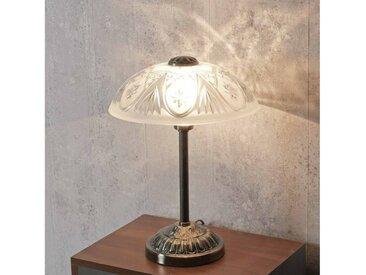 Licht-Erlebnisse Tischleuchte »ANNABELLA Tischleuchte Jugendstil Bronze Weiß Nachttischlampe Lampe«