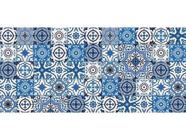 Artland Küchenrückwände »PGMart: Orientalische Fliesen«, blau, 110x50 cm, Blau