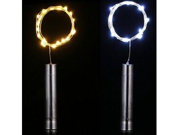 TOPMELON Lichterkette, 15-flammig, LED, bunt, 15 St. - 15 St., Warmweiß*2+Weiß*2