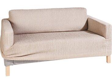 GAICO Sofahusse »Paula«, in fein gemusterter Struktur-Optik, natur, Sofahusse (2-Sitzer), beige