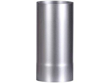 Firefix FIREFIX Ofenrohr feueraluminiert, ø 130 mm, 250 mm lang, silberfarben, silberfarben