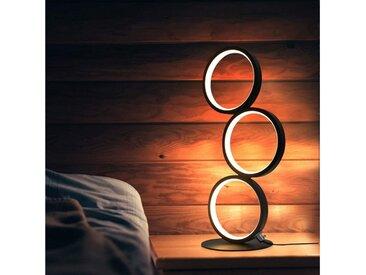 ZMH LED Nachttischlampe »Schwarz Schreibtischlampe in Ringform aus Aluminium