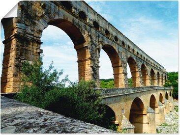 Artland Wandbild »Pont du Gard 2«, Brücken (1 Stück), Poster
