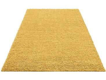 Home affaire Hochflor-Teppich »Shaggy 30«, rechteckig, Höhe 30 mm, goldfarben, goldfarben