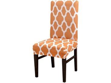 TOPMELON Stuhlhusse, Esszimmerstuhlbezug, Jacquard-Design, elastischer Stretch, orange, Orange