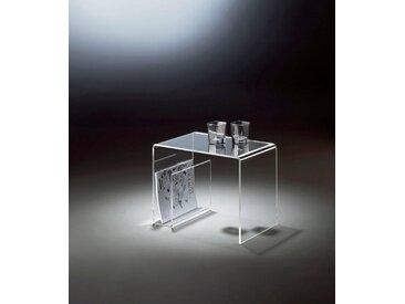 Places of Style Beistelltisch, mit Zeitungssammler, aus Acrylglas