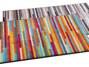 Fußmatte, rechteckig, Höhe 1 mm, bunt, mehrfarbig-bunt