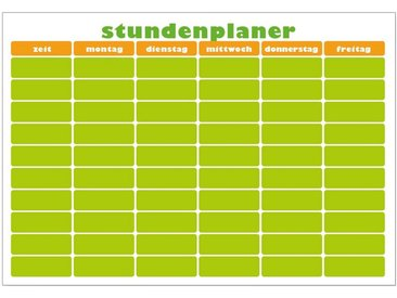 MySpotti Wandsticker »Stundenplaner orange-grün« (1 Stück), mit Whiteboard-Oberfläche