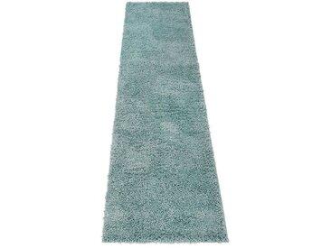 Home affaire Hochflor-Läufer »Shaggy 30«, rechteckig, Höhe 30 mm, gewebt, blau, aquablau