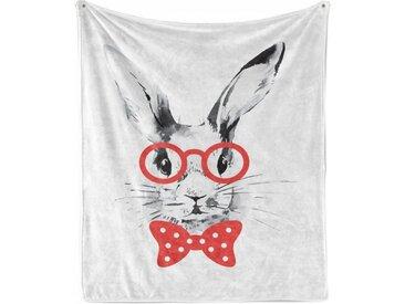 Abakuhaus Foulard »Gemütlicher Plüsch für den Innen- und Außenbereich«, Hase Nerdy Kaninchen mit Brille