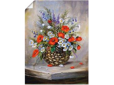 Artland Wandbild »Blumiger Korb«, Blumen (1 Stück), in vielen Größen & Produktarten -Leinwandbild, Poster