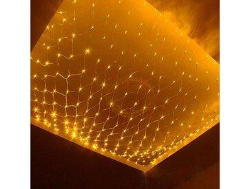 TOPMELON Lichterkette, LED Net Mesh Lichterkette, Wasserdicht, 4 Größen,Weihnachtsdekoration, gelb, 200 St., Gelb