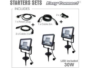 SPOT Light Gartenleuchte »Easy Connect«, Marke: CALI, EASY CONNECT FLOOD, LED 3000K°, 30W, 3000 LM, Anschlüsse