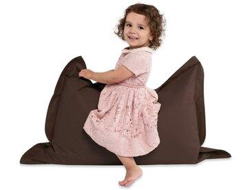 Green Bean Sitzsack, 100x70 cm - 70Liter EPS Perlen Füllung - PVC Bezug - In- und Outdoor Sitzsack für Kinder - Sitzkissen Bean Bag Bodenkissen - Dunkelbraun