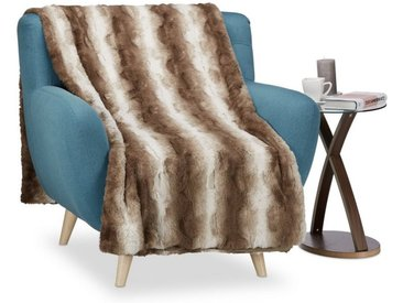relaxdays Tagesdecke »Felldecke aus Kunstfell in Braun«