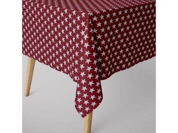 SCHÖNER LEBEN. Tischdecke » Tischdecke Sterne beidseitig rot weiß eckig in verschiedenen Größen«, handmade