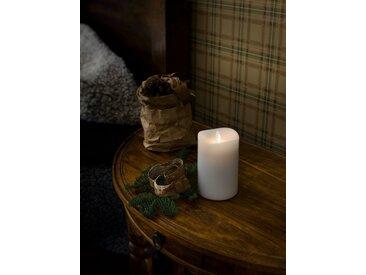 KONSTSMIDE LED Duftkerze, flackernd, weiß, Höhe 13cm, Lichtquelle warm-weiß, Weiß
