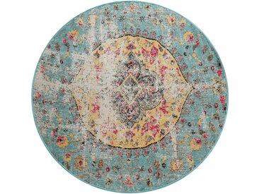 Paco Home Teppich »Artigo 401«, rund, Höhe 11 mm, Kurzflor, Vintage Design, In- und Outdoor geeignet