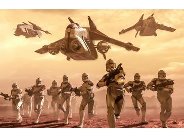 Komar Fototapete »Star Wars Classic Clone Trooper«, glatt, mehrfarbig, Weltall, futuristisch, (Packung)