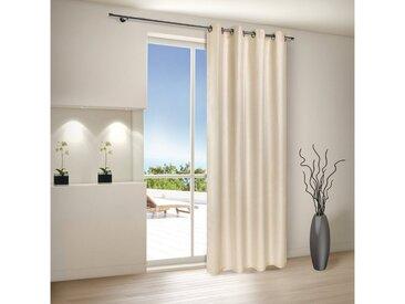 Gerster Vorhang »MACY Vorhänge, Ösenschal aus Dekostoff blickdicht 140/235 cm«, Ösen (1 Stück), natur, Beige
