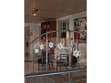 KONSTSMIDE LED Schneeflocken Lichtervorhang, 5er-Set, weiß, Lichtquelle kalt-weiß, Transparent