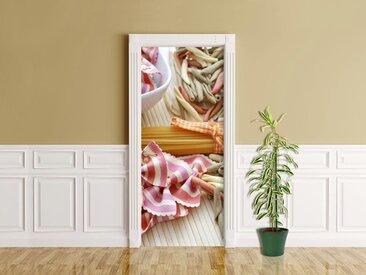 Bilderdepot24 Deco-Panel, Türaufkleber - Italienische Pasta V