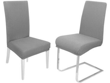 Moderno Biertischhusse »Stuhlhusse elastische Stuhlhussen Stretch«, grau, Grau