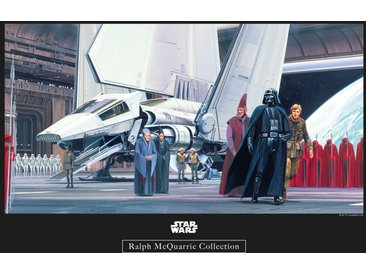 Komar KOMAR Wanddekoration »Star Wars Classic RMQ Death Star Shuttle Dock«, ohne Rahmen, bunt, 40 cm, bunt