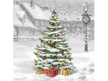 Ambiente Papierserviette »Verschneite Weihnacht«, (5 St), 33 cm x 33 cm, 5 St.
