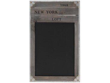 """Wellgro Memoboard »Nostalgische Holz-Kreide-Tafel """"NEW YORK 1968"""" - Schultafel - Kreidetafel - Memoboard«"""
