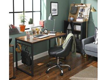 VASAGLE Schreibtisch »LWD58X«, Bürotisch mit 8 Haken, 120 x 60 x 75 cm, vintage