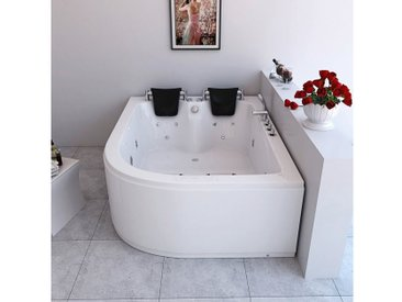 HOME DELUXE Whirlpool »Ancona XL rechts«, B/T/H in cm: 180/120/65, Wanne rechts, 180 cm, 180 cm