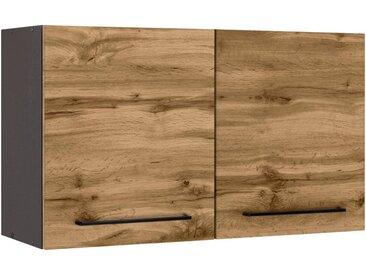 HELD MÖBEL Hängeschrank »Tulsa« 100 cm breit, 57 cm hoch, 2 Türen, schwarzer Metallgriff, hochwertige MDF Front, natur, wotaneiche