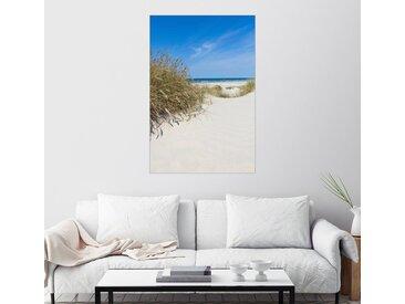 Posterlounge Wandbild, Dünen und Meer, Leinwandbild