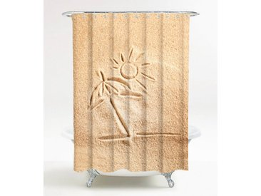 Sanilo SANILO Duschvorhang »Sunshine«, 180 x 180 cm, braun, sandfarben