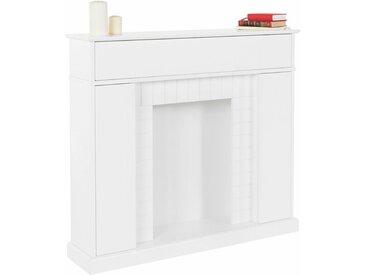 Home affaire Kaminumbauschrank Breite 110 cm, weiß, weiß