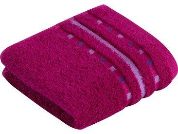 Vossen Waschlappen »Atletico« (3-tlg), mit aufwändiger Bordüre, lila, cranberry
