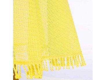 Woltu Gartentischdecke, Tischdecke mit Quaste geschäumt rund, gelb, gelb
