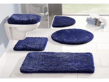 my home Badematte »Merida« , Höhe 32 mm, fußbodenheizungsgeeignet, blau, marine