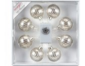 INGE-GLAS® LED-Lichterkette »Magic - Glaskugel«, silber