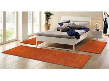 Theko Exklusiv Bettumrandung »Gabbeh uni« , Höhe 15 mm, orange, rostorange