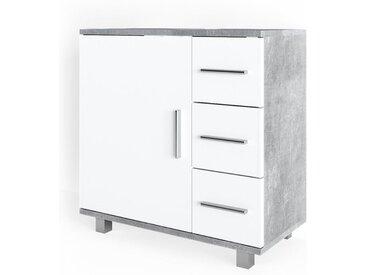 Vicco Waschbeckenunterschrank »ILIAS Weiß Beton Waschtisch Unterschrank Badezimmer«