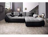 my home Ecksofa »Liliana«, schwarz, ohne Bettfunktion, schwarz-weißgrau