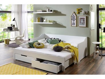 Relita Funktionsbett »Anna«, mit ausziehbarer Liegefläche und 2 Schubkästen, ohne Matratze