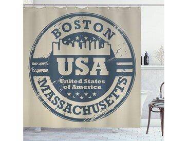 Abakuhaus Duschvorhang »Moderner Digitaldruck mit 12 Haken auf Stoff Wasser Resistent« Breite 175 cm, Höhe 180 cm, Boston Pass-Stempel-Entwurf