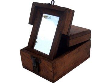 Guru-Shop Aufbewahrungsdose »Spiegelschatulle Schmink Spiegel - antik 1«, antik 1