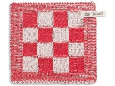 Knit Factory Tischdecke »Topflappen Block Ecru/Rot«