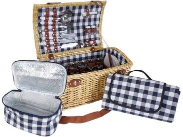 MCW Picknickkorb »-B23«, Kühltasche und Picknickdecke mit Tragegriff