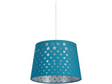relaxdays Hängeleuchte »Kinderzimmerlampe Sternmotiv«, blau, Blau