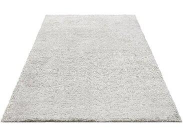 Bruno Banani Hochflor-Teppich »Shaggy Soft«, rechteckig, Höhe 30 mm, grau, aluminium